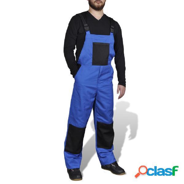 Mono de trabajo de color azul para hombres, talla L