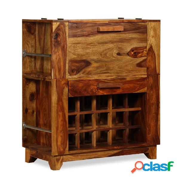Mueble bar de madera de sheesham maciza 85x40x95 cm