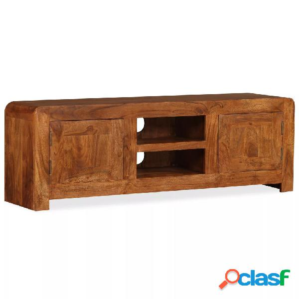 Mueble para TV madera maciza con acabado Sheesham 120x30x40