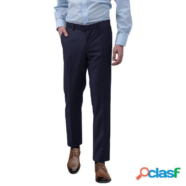 Pantalones de vestir para hombre talla 48 azul marino