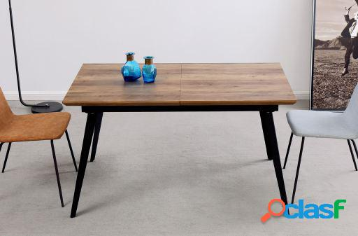 Wellindal Mesa comedor extensible Branch nogal/negro