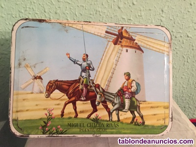 Caja membrillo con imagen de don quijote y sancho panza