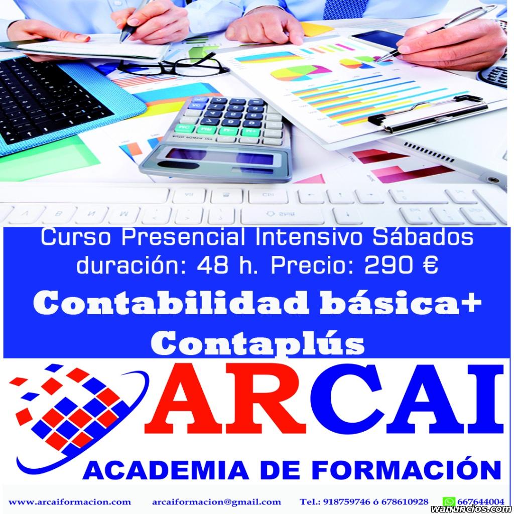 Curso de contabilidad y contaplús - Madrid