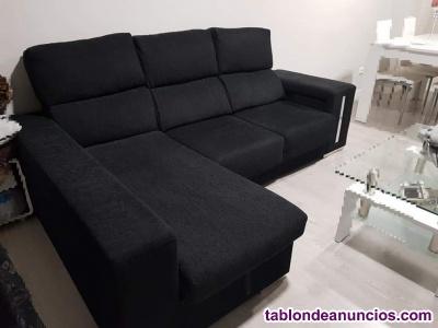 Se venda sofa chaise longue con arcon y 2 puff