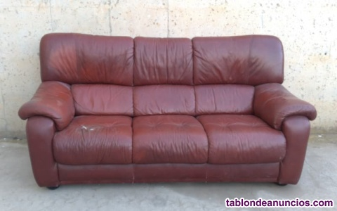 Sofá de piel 200cm