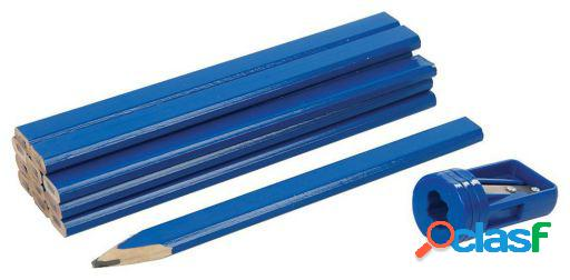Silverline Lápices para carpintero y sacapuntas, 13 pzas