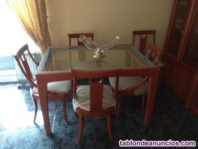 Vendo conjunto mueble de salón, mesa 6 sillas