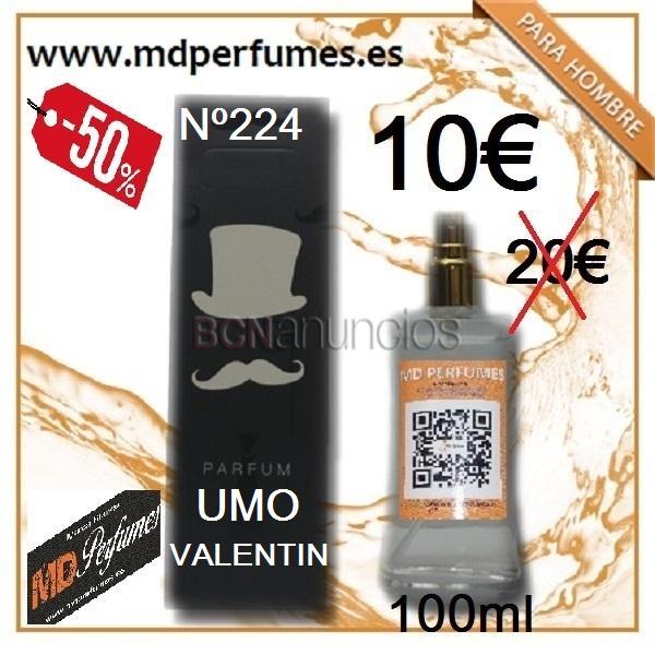 Perfumes hombre nº224 umo valentín equivalente alta gama
