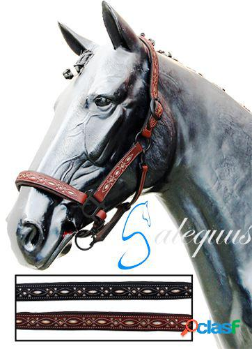 Galequus Cabezada Cuadra Calada Pony Marrón