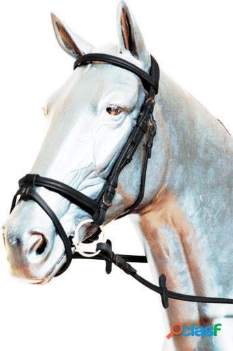 Gómez Cabezada inglesa ae235 con cierra boca pony Negro