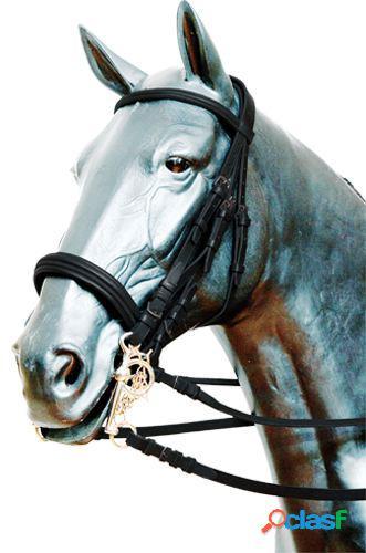 Gómez Cabezada inglesa filete y bocado pony Negro