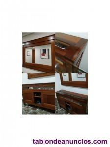 Mueble de recibidor madera maciza