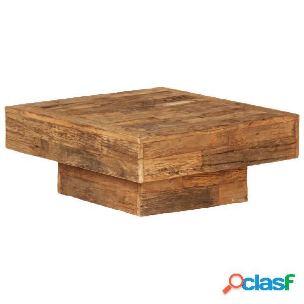 Mesa de centro de madera maciza reciclada 70x70x30 cm