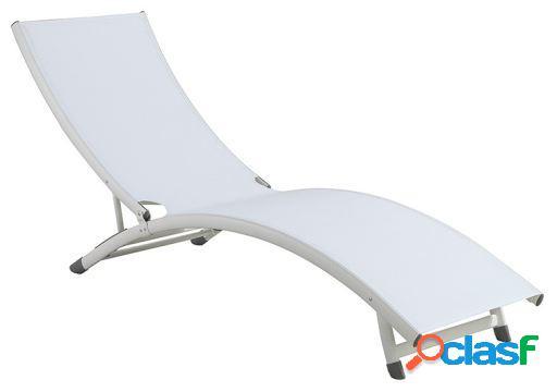 Wellindal Tumbona Aluminio Blanco
