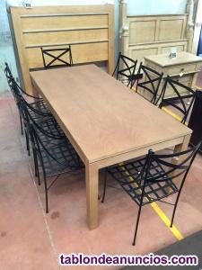 Comedor 8 personas (mesa + 8 sillas)