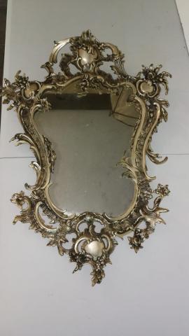 Espejo de bronce en plata