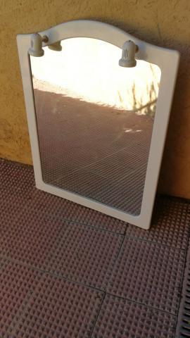Espejo marco de madera con luces