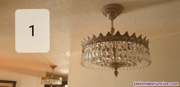 Se venden lámparas de cristal vintage en perfecto estado