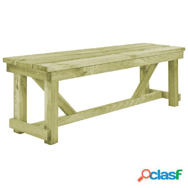 Banco de jardín de madera FSC 140x38x45 cm