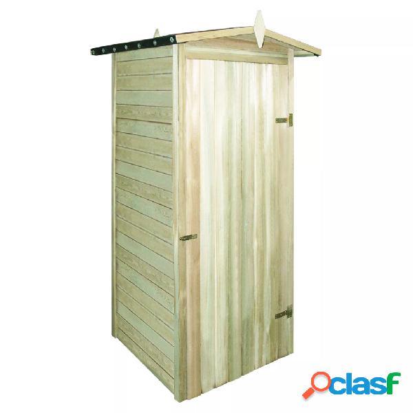 Caseta de almacenaje de jardín madera de pino FSC