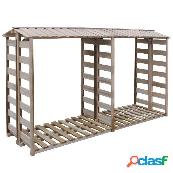 Caseta para leña 300x100x176 cm madera de pino impregnada
