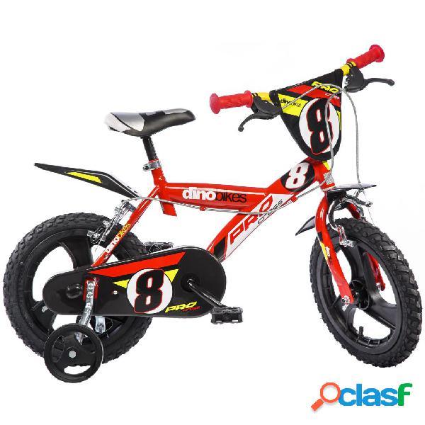 Dino Bikes Bicicleta para niños Pro-Cross roja 40 cm