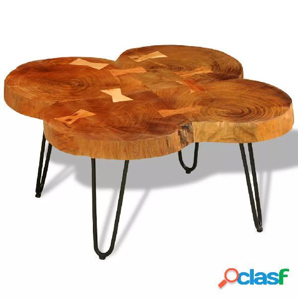 Mesa de centro de 4 troncos madera maciza de sheesham 35 cm