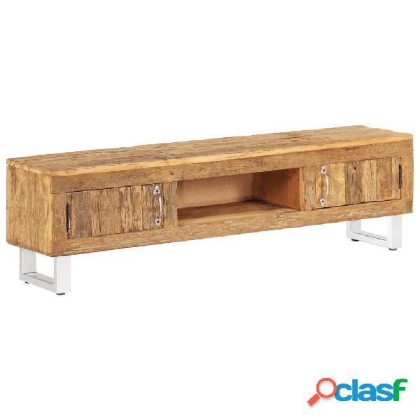 Mueble de TV madera maciza reciclada traviesas tren