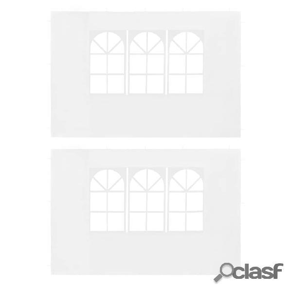 Paredes laterales de carpa de fiesta con ventana PE blanco