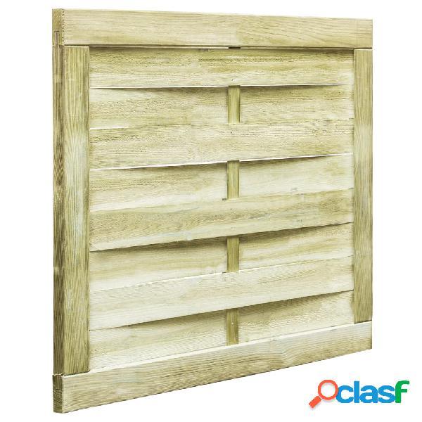 Puerta de valla de madera de pino impregnada FSC 100x75 cm