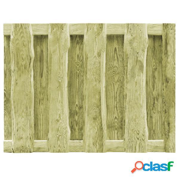 Puerta de valla jardín madera verde impregnada FSC 100x75