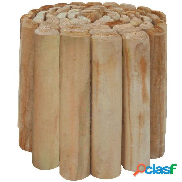 Rollo de troncos borde de jardín madera pino FSC 250x30 cm