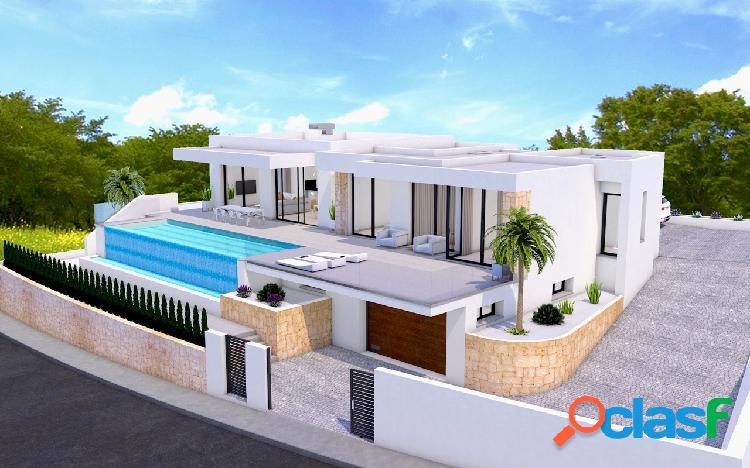 Una villa de diseño moderno de