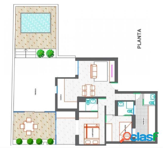 Piso en venta con gran terraza en El Poblenou, Sant Martí -