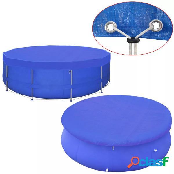 Cubierta de piscina PE 540 cm 90 g/m² redonda