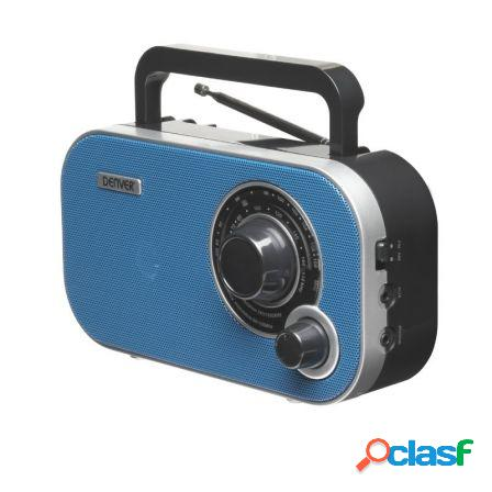 Radio portatil denver tr-54mk2 blue - am/fm - entrada