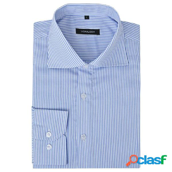 Camisa de vestir de hombre talla M rayas blanca y azul