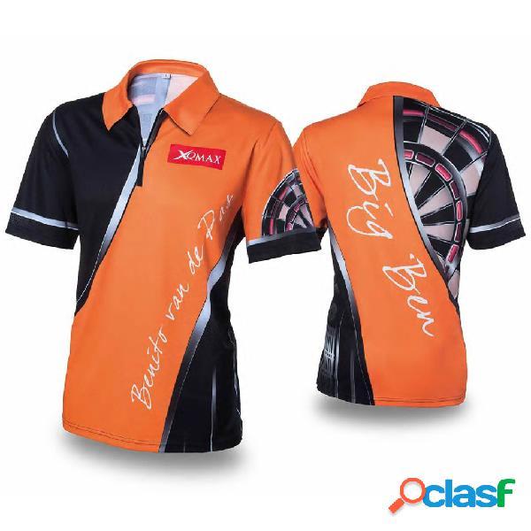 XQmax Darts Réplica de camiseta BvdP naranja talla L