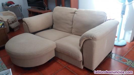 Sofa de ikea con reposapies ocasion
