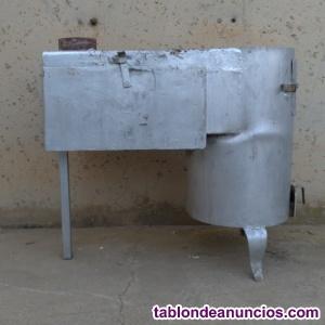 Estufa de leña con horno