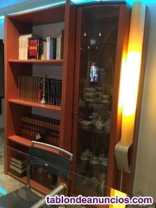 Muebles salón recto color cerezo usados buen estado