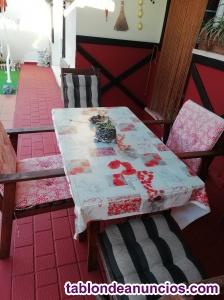 Venta conjunto mesa jardín y sillas