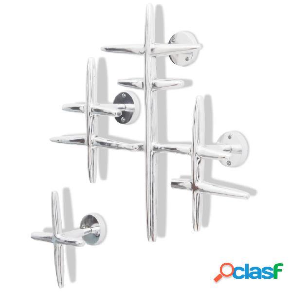 Colgadores de aluminio con ganchos para ropa (2 unidades,