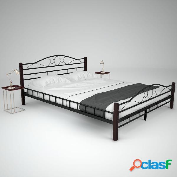 Estructura de cama de metal y somier 160x200 cm