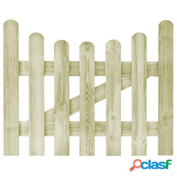 Puerta de valla de madera de pino impregnada FSC 100x80 cm