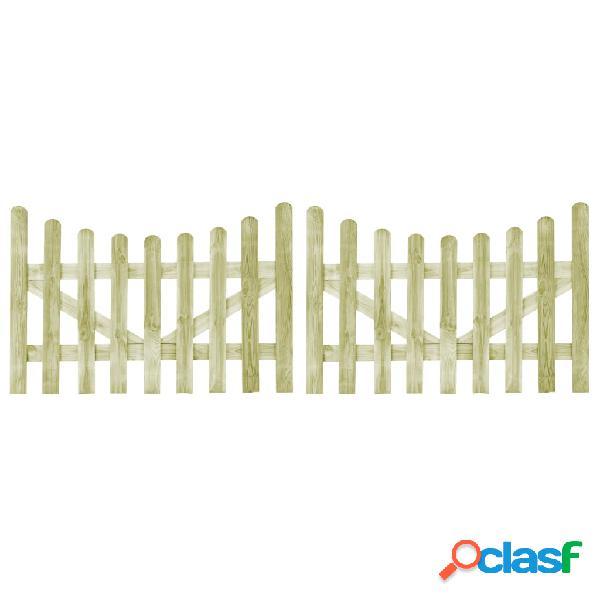 Puertas de valla 2 uds madera de pino impregnada FSC 150x100