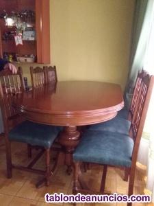 Vendo mesa circular con sillas