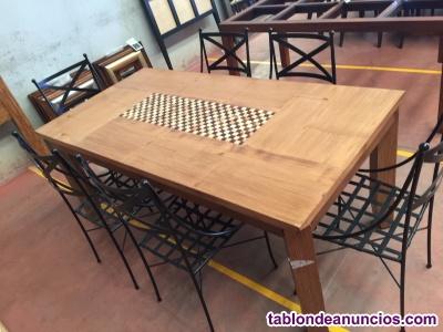 Comedor + sillas forja (6 - 8 personas)