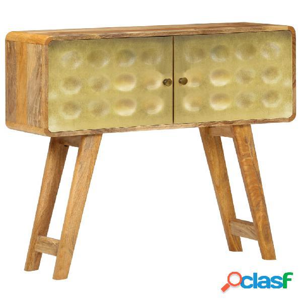 Aparador de madera maciza de mango 90x30x77 cm