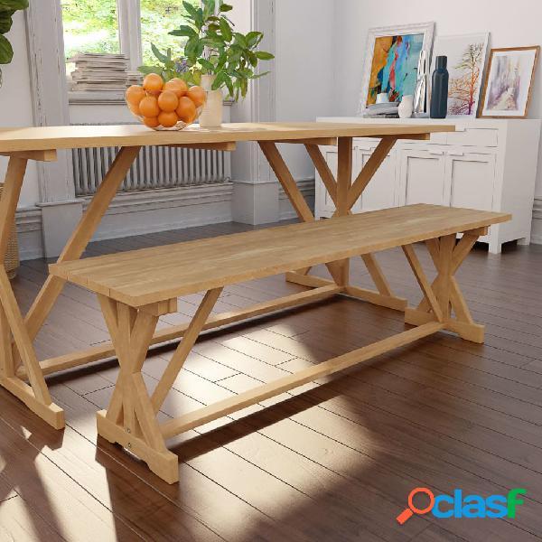 Banco de madera de teca maciza 150x35x45 cm